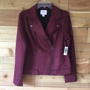 Old navy maroon jacket 0705-🌼